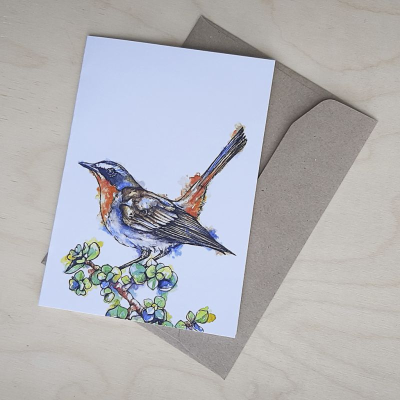 Cape Robin Chat - Greeting Card - A6 single