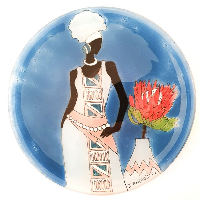 Glass Dish - African Lady Protea