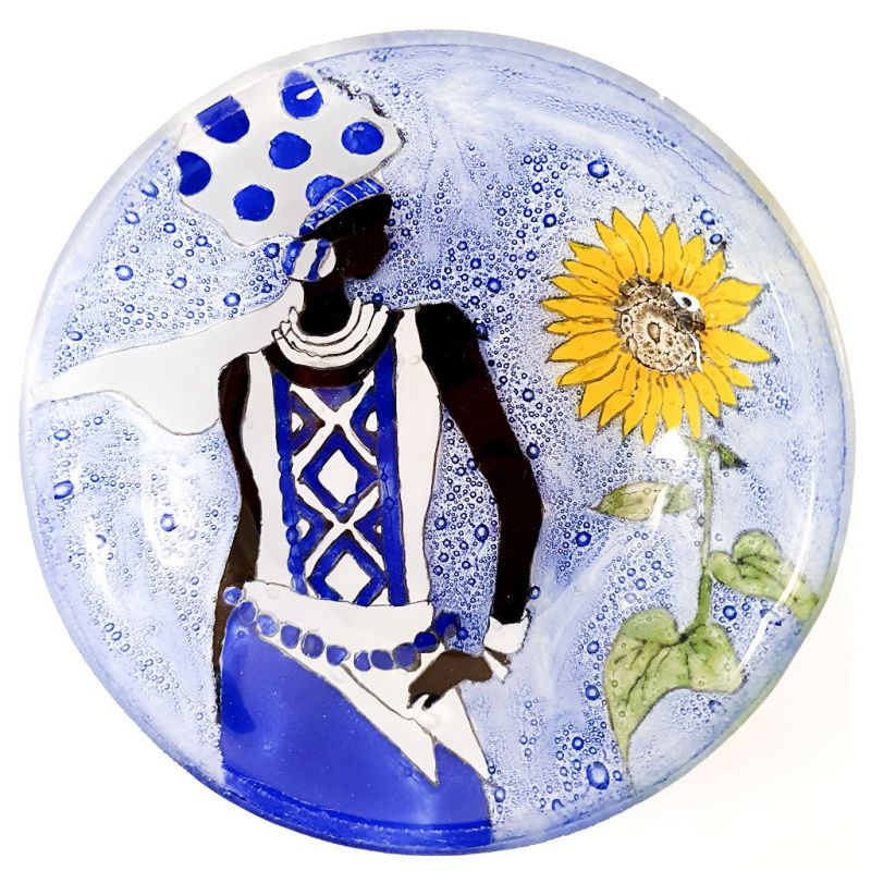 Glass Bowl - African Lady