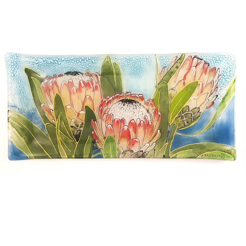 Glass Platter - Proteas