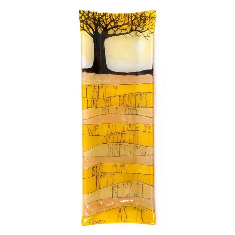 Glass Platter - Family Tree - Yellow