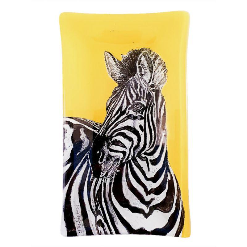 Glass Platter - Zebra