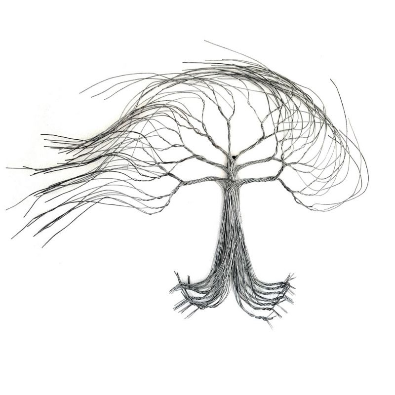 Tree Windblown - 2D in Wire - Large