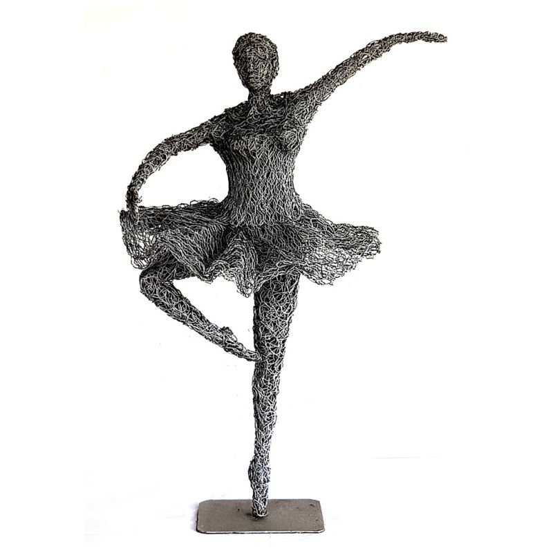 Dancing Girl - Wire Sculpture - Medium