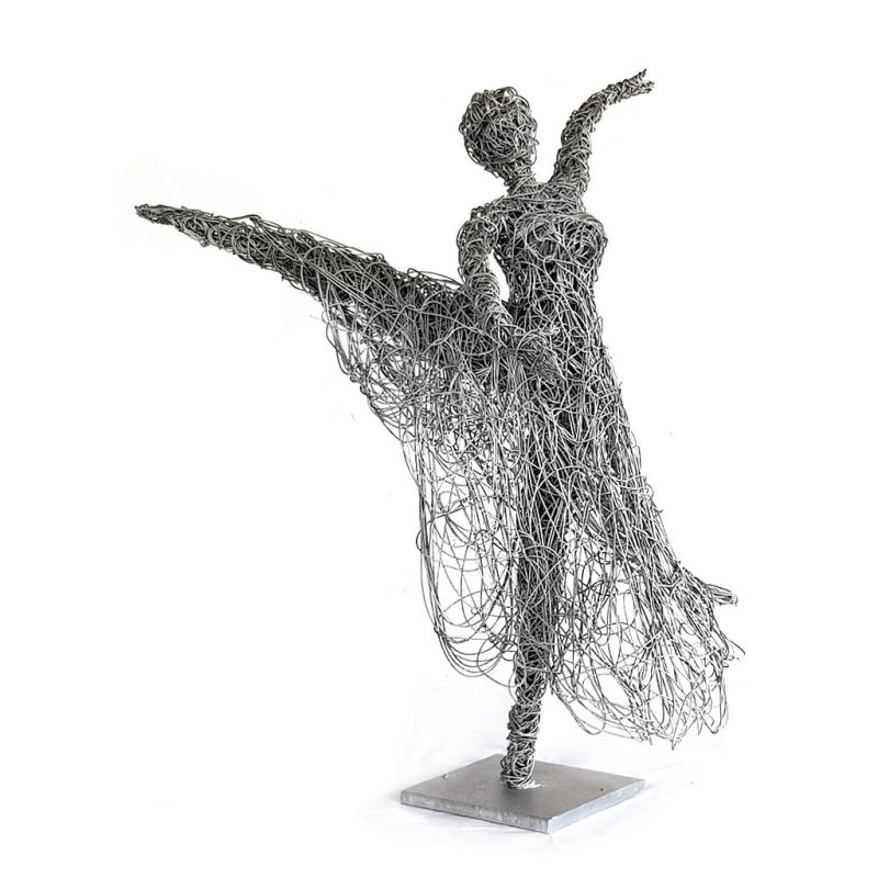 Dancing Girl with Skirt - Freestanding Sculpture