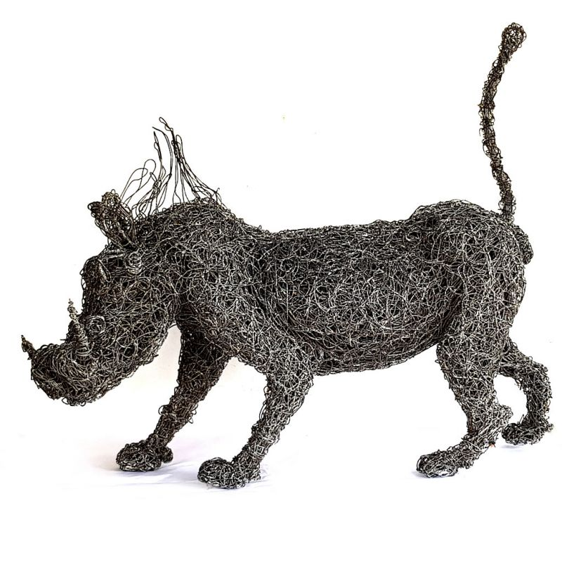 Warthog - Wire sculpture