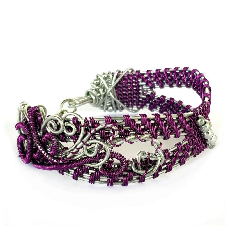 Bracelet - Wire Wrap - Purple