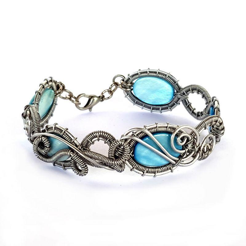 Bracelet - Mother of Pearl - Blue