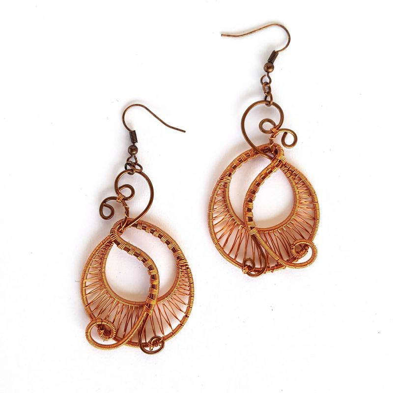 Earrings - Copper Wire - Hoop
