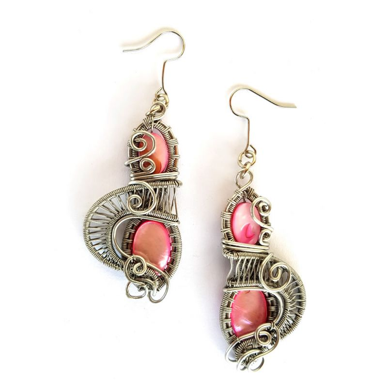 Earrings - Mother of Pearl - Pink