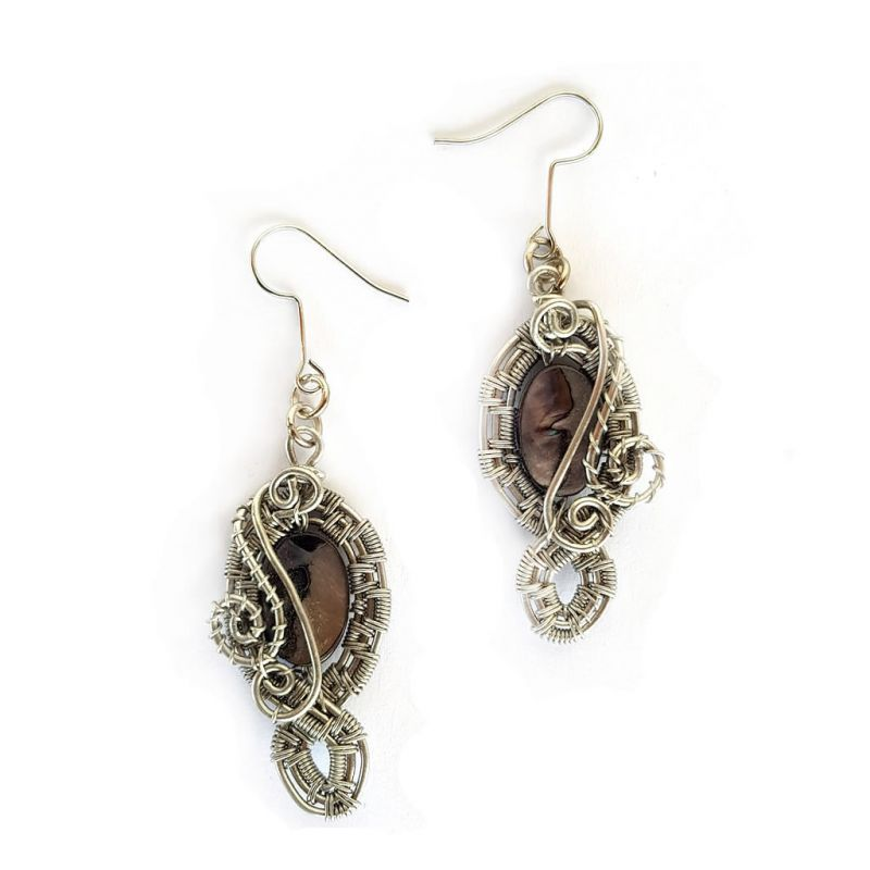 Earrings - Mother of Pearl - Black