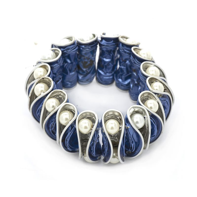 Bracelet - Recycled  Coffee Pod - Blue