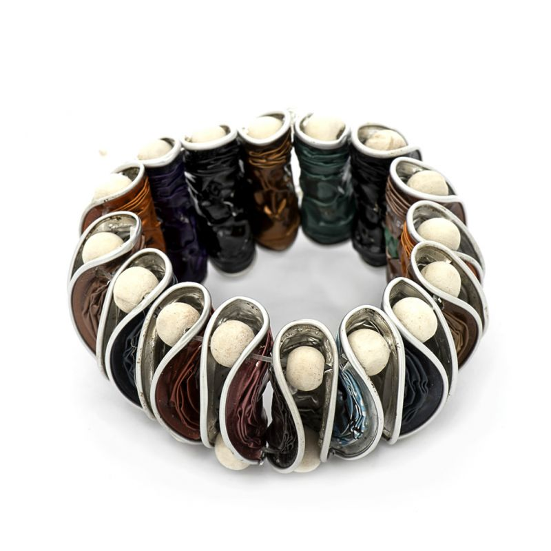 Bracelet - Recycled  Coffee Pod - Multi