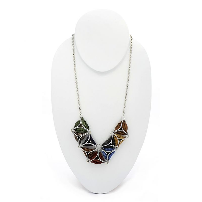 Necklace - Recycled Coffee Pods - Triangles