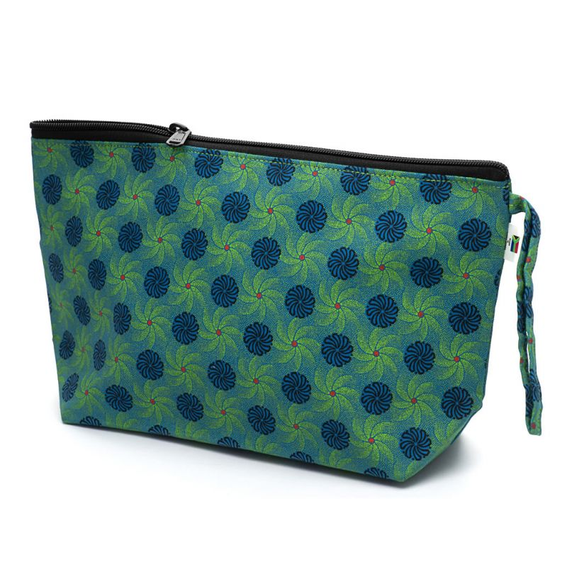 Shweshwe Toiletry Bag - Large - Green