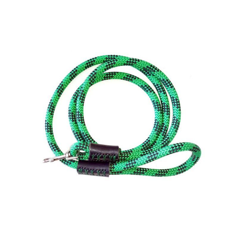 Dog Leash - Green/Black Rope