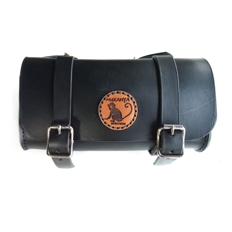 Leather Saddle Bag - Black