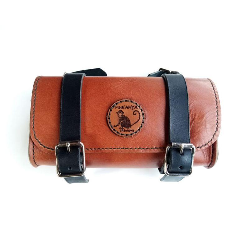 Leather Bicycle Saddle Bag - Chestnut