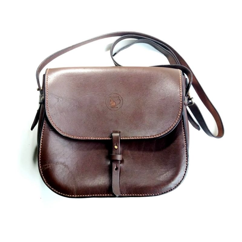 Leather Shoulder Bag - Vintage - Brown