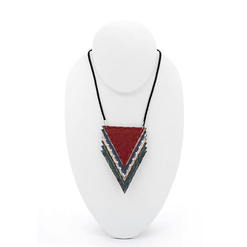 Neckpiece - Indwe Shirt Accessory - Leather - Red