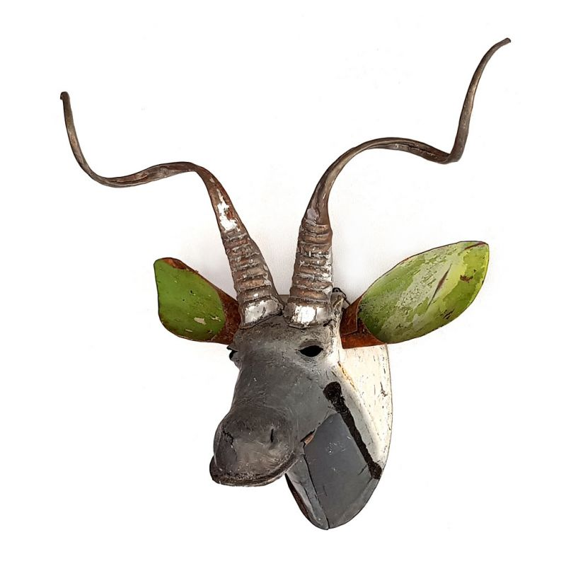 Kudu - Trophy Head - Recycled Scrap Metal