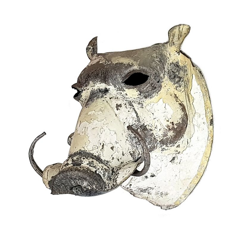 Warthog - Trophy Head - Recycled Metal - Small