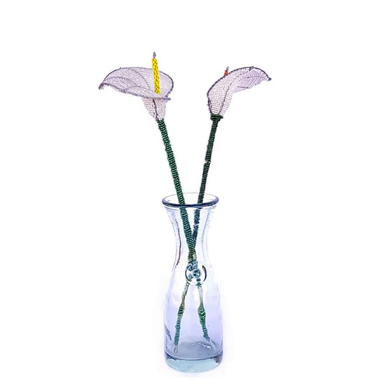 Arum Lily - Beaded Wirework - White