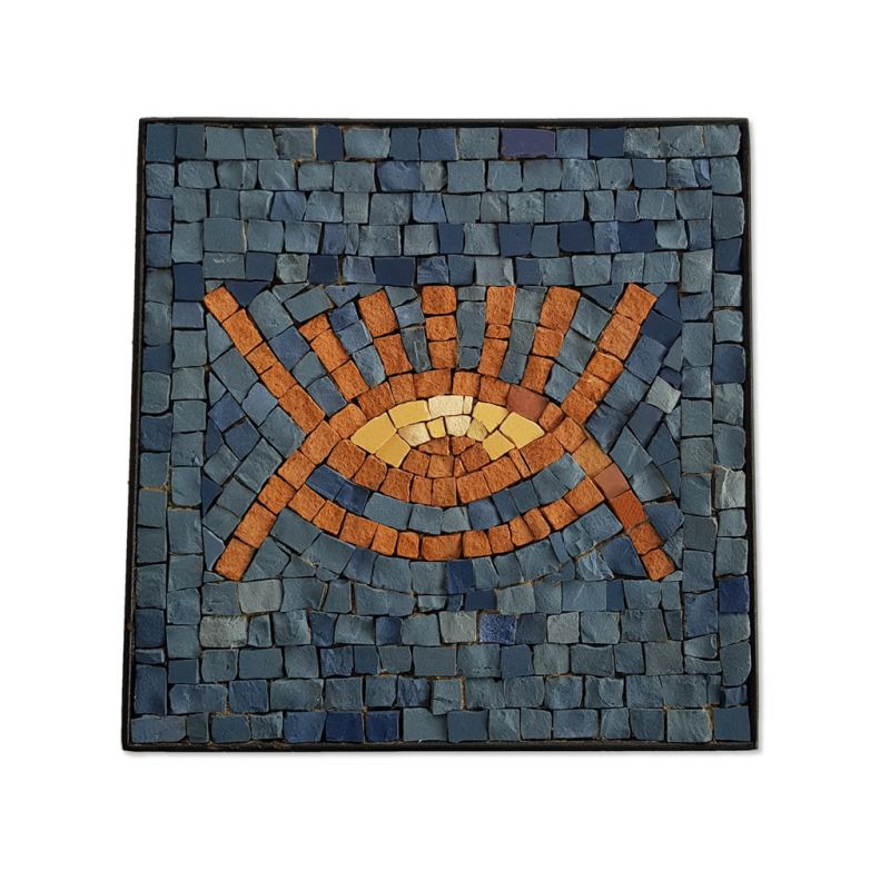 Mosaic - Eye Symbol - Blue - Small