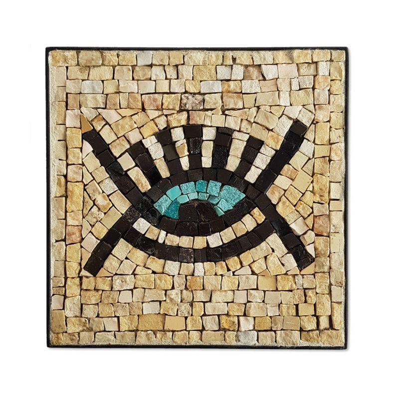Mosaic - Eye Symbol - Cream - Small