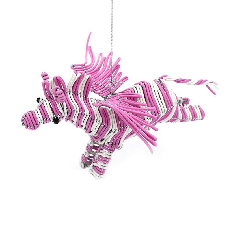 Flying Zebra - Telephone Wire - White/Pink