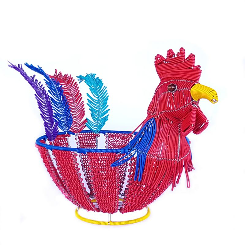 Basket Chicken - Telephone Wire - Red