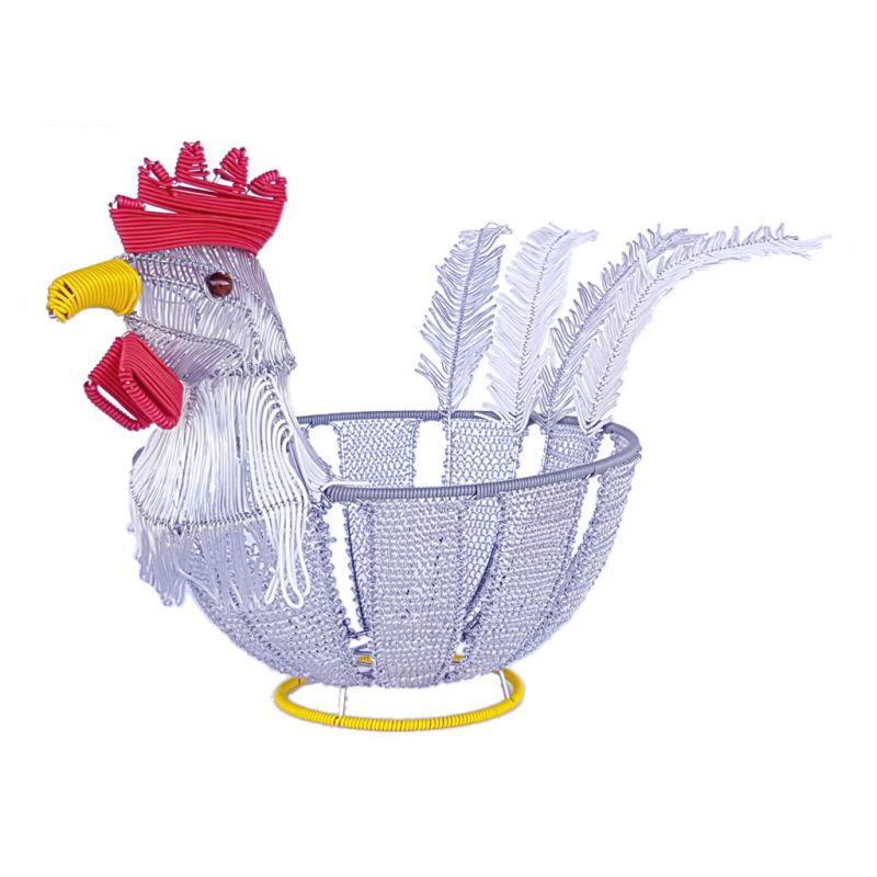 Basket Chicken - Telephone Wire - Silver
