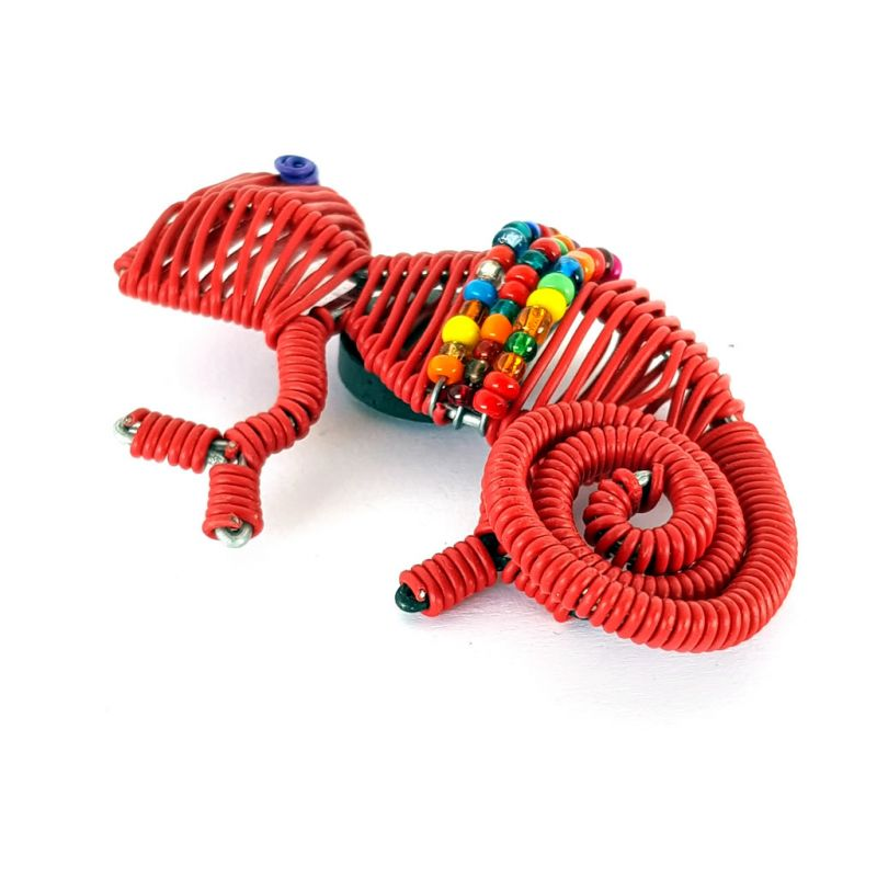 Fridge Magnet - Chameleon - Red