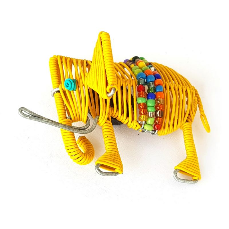 Fridge Magnet - Elephant - Yellow