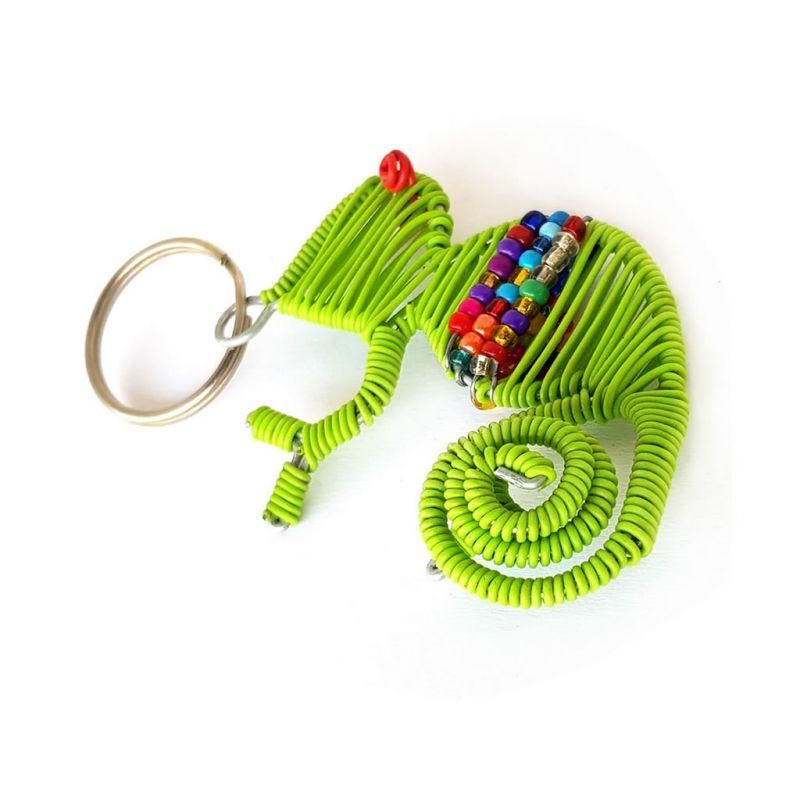 Keyring - Chameleon - Lime Green