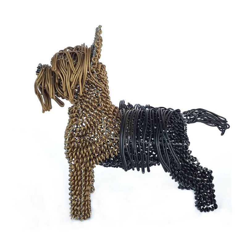 Terrier Dog - Freestanding - Sculpture
