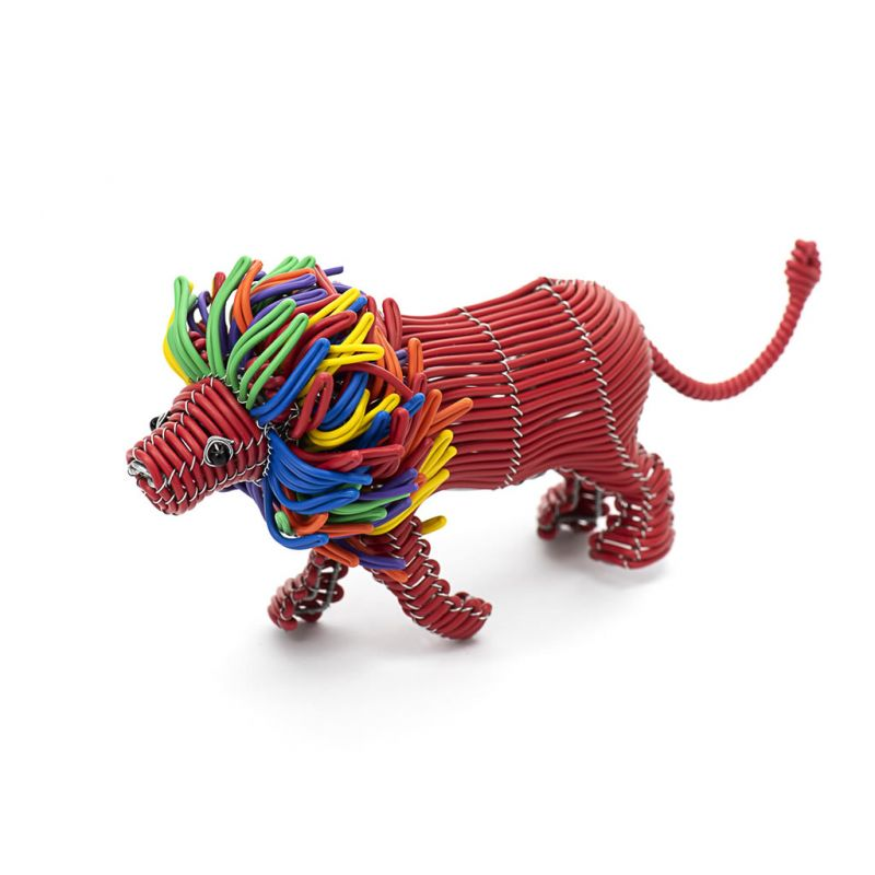Lion - Telephone Wire - Small Red