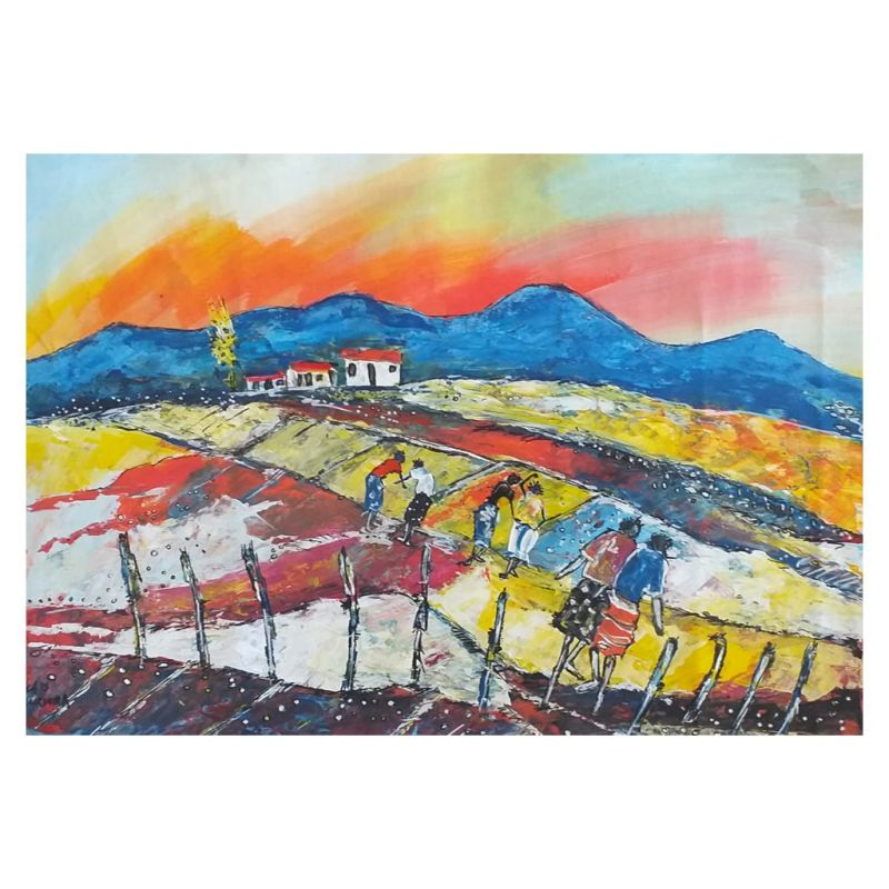 Painting - Acrylic on Canvas - Farm Workers