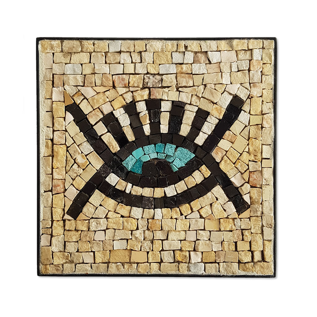 Mosaic - Eye Symbol - Cream - Small