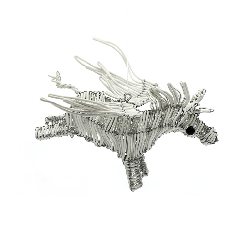 Flying Zebra - Telephone Wire - White