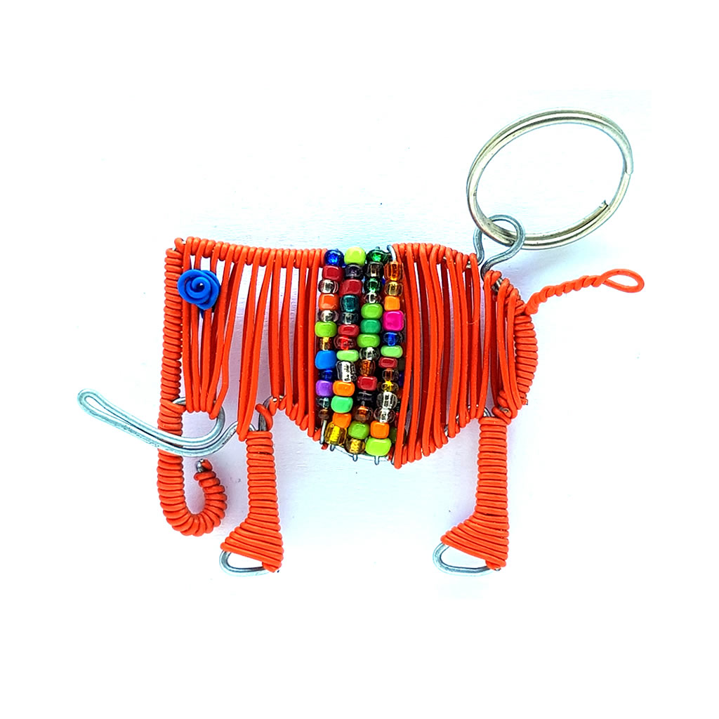 Keyring - Elephant - Orange