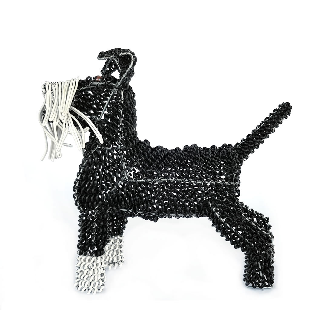 Dog - Schnauzer - Freestanding - Sculpture