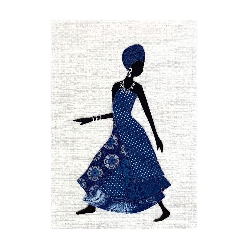Shweshwe Dress - Textile Art - A4