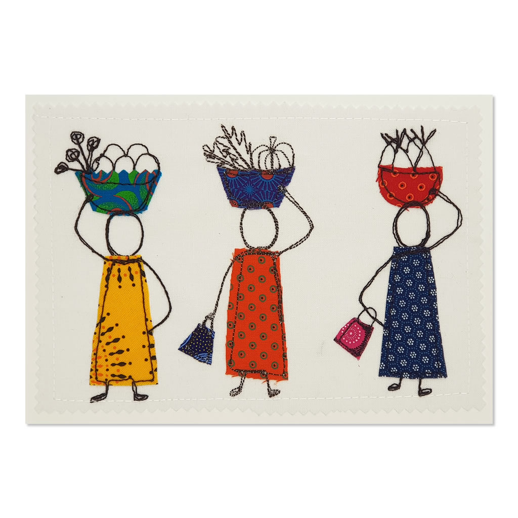 Home from the Market 02 - Greetings Card - A5