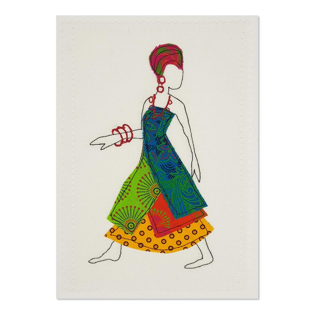Shweshwe Dress 03 - Greeting Card - A5