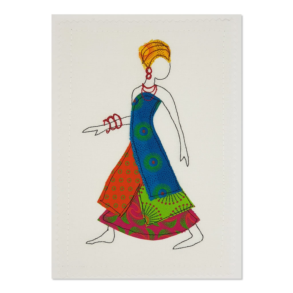 Shweshwe Dress 05 - Greeting Card - A5