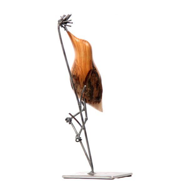 Bird on Reed - Wild Olive - Small