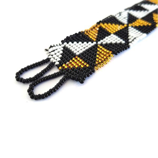 Bracelet - Woven Beads - Extra Narrow Triangle