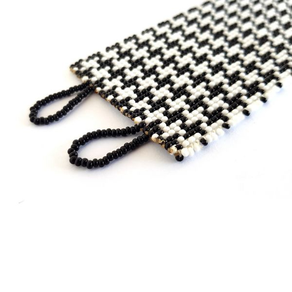 Bracelet - Woven Bead - Medium Houndstooth BW