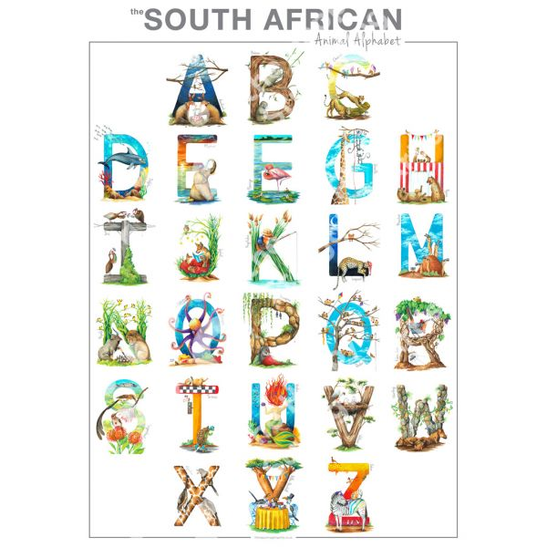 South African Animal Alphabet - Letter L - Print